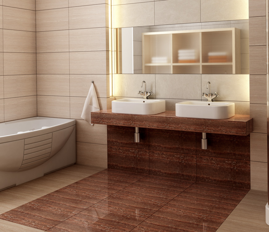Contour cabinets bathroom designs for Grand carrelage mural salle de bain